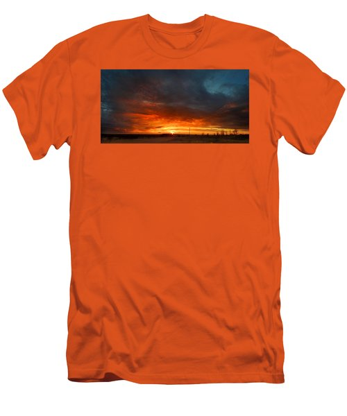 Men's T-Shirt (Slim Fit) featuring the photograph Sky On Fire by Rod Seel