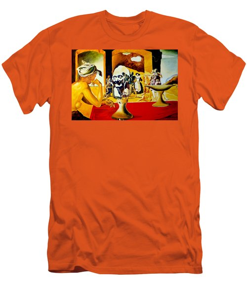 Men's T-Shirt (Slim Fit) featuring the painting Slave Market With The Invisible Bust Of Voltaire by Henryk Gorecki