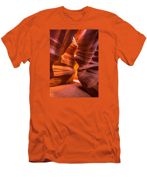 Slot Canyon Men's T-Shirt (Slim Fit) by Jerry Cahill