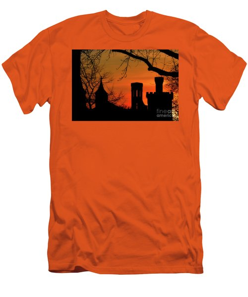 Smithsonian Castle Men's T-Shirt (Slim Fit) by Luv Photography