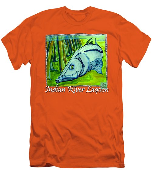 Snook Fish Men's T-Shirt (Slim Fit) by W Gilroy