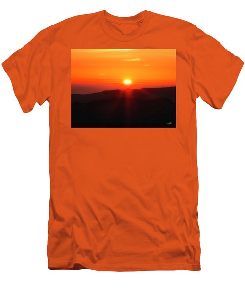 Men's T-Shirt (Slim Fit) featuring the photograph Snow Camp View 2 by Leland D Howard