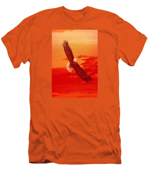Men's T-Shirt (Slim Fit) featuring the painting Soaring by Katherine Young-Beck
