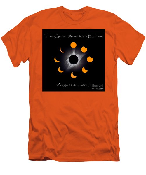 Solar Eclipse Stages Men's T-Shirt (Athletic Fit)