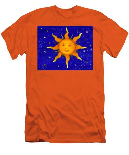 Men's T-Shirt (Slim Fit) featuring the painting Soleil by Sandra Estes