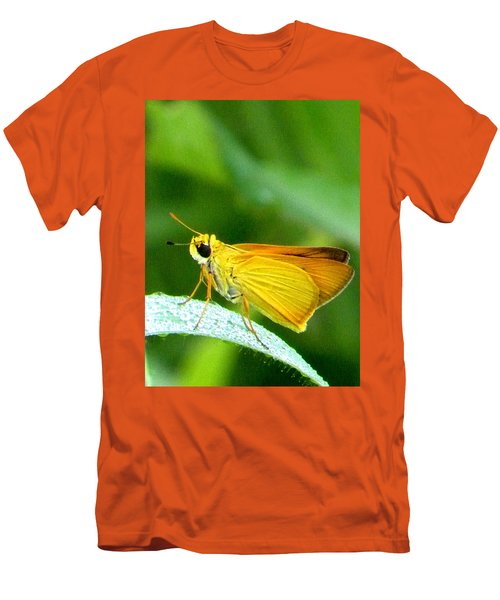 Southern Skipperling Butterfly 001  Men's T-Shirt (Slim Fit) by Chris Mercer