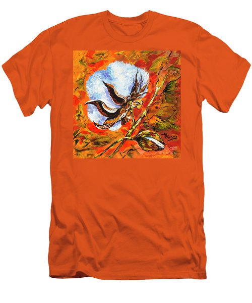 Men's T-Shirt (Slim Fit) featuring the painting Southern Snow by Dianne Parks