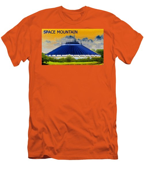 Space Mountain Men's T-Shirt (Slim Fit) by David Lee Thompson