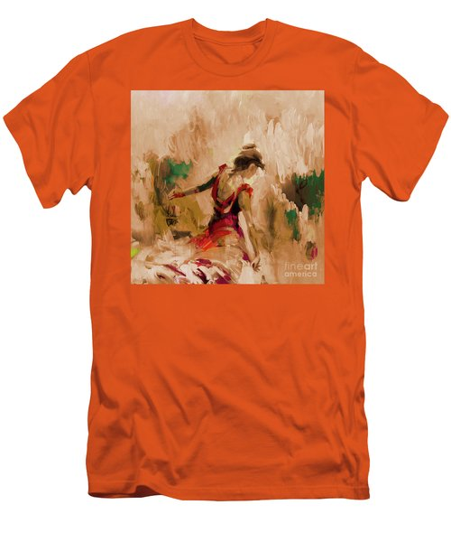 Men's T-Shirt (Slim Fit) featuring the painting Spanish Dance Culture  by Gull G