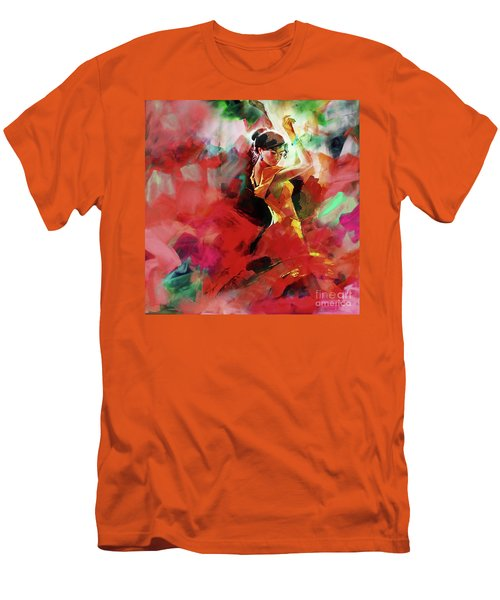 Men's T-Shirt (Slim Fit) featuring the painting Spanish Dance by Gull G
