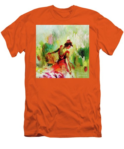 Men's T-Shirt (Slim Fit) featuring the painting Spanish Female Art 56y by Gull G