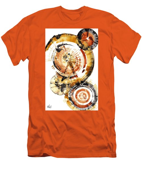 Men's T-Shirt (Athletic Fit) featuring the painting Sphere Series 1020.050112 by Kris Haas