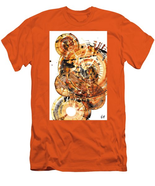 Men's T-Shirt (Athletic Fit) featuring the painting Sphere Series 1021.050212 by Kris Haas