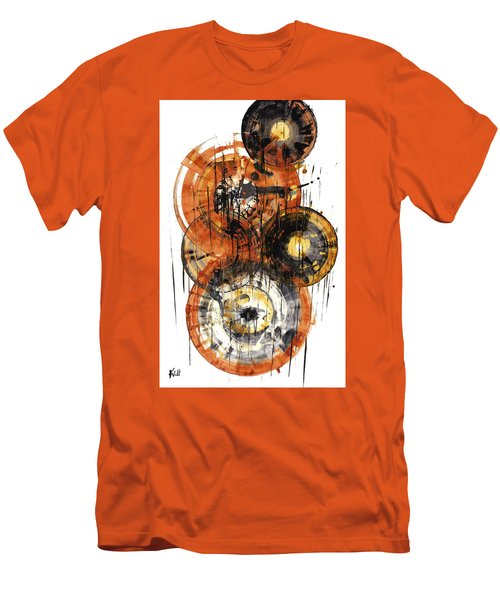 Men's T-Shirt (Athletic Fit) featuring the painting Sphere Series 1028.050412 by Kris Haas