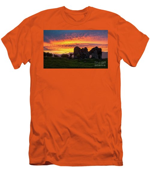 Splendid Ruins Of Tormak Church During Gorgeous Sunset, Armenia Men's T-Shirt (Athletic Fit)