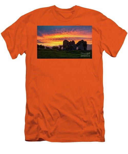 Splendid Ruins Of Tormak Church During Gorgeous Sunset, Armenia Men's T-Shirt (Athletic Fit)