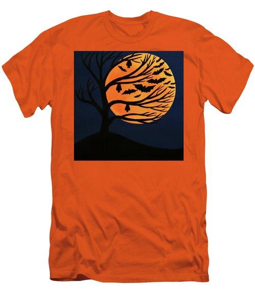 Spooky Bat Tree Men's T-Shirt (Athletic Fit)