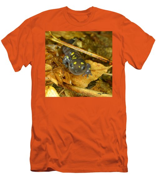 Spotted Salamander Men's T-Shirt (Athletic Fit)