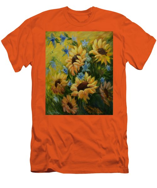 Sunflowers Galore Men's T-Shirt (Slim Fit) by Joanne Smoley