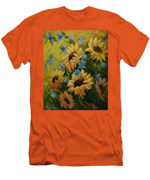 Sunflowers Galore Men's T-Shirt (Slim Fit) by Joanne Smoley
