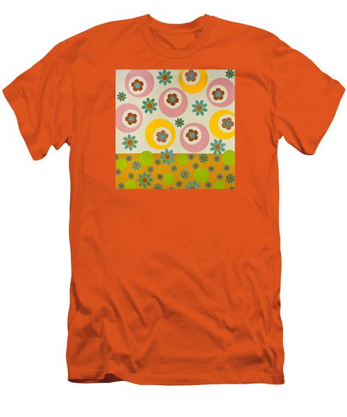 Men's T-Shirt (Slim Fit) featuring the mixed media Spring Delight by Gloria Rothrock