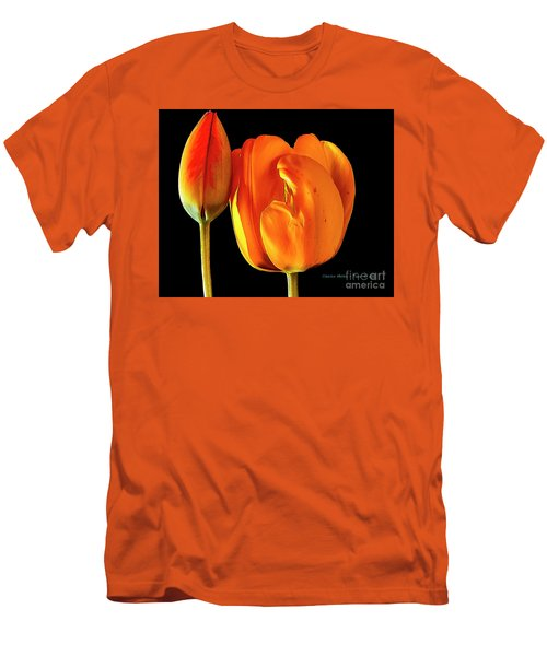 Spring Tulips V Men's T-Shirt (Athletic Fit)