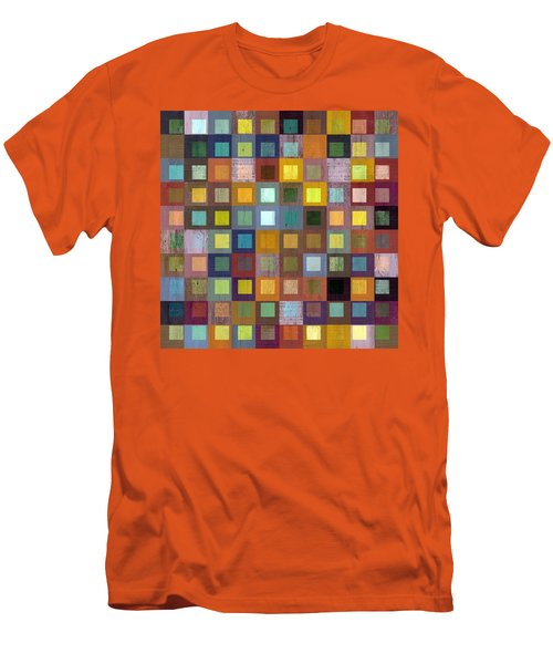 Men's T-Shirt (Slim Fit) featuring the digital art Squares In Squares One by Michelle Calkins