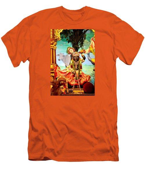 Sri Nath Ji, Radha Gopinath Mandir, Mumbai Men's T-Shirt (Slim Fit) by Jennifer Mazzucco