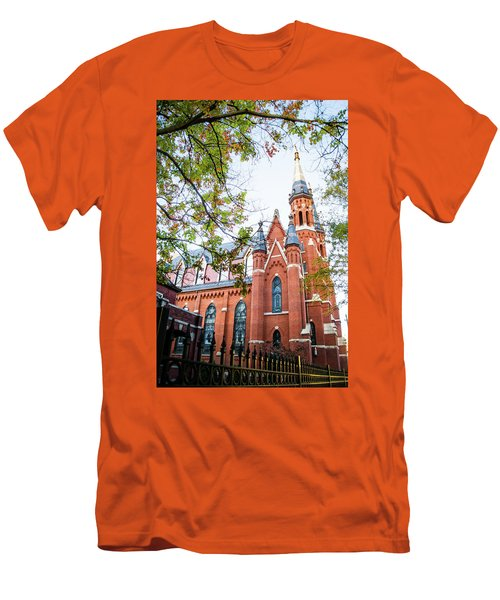 Men's T-Shirt (Slim Fit) featuring the photograph St Paul's Cathedral In Downtown Birmingham by Shelby Young