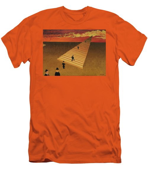 Stairway To Heaven Men's T-Shirt (Slim Fit) by Thomas Blood
