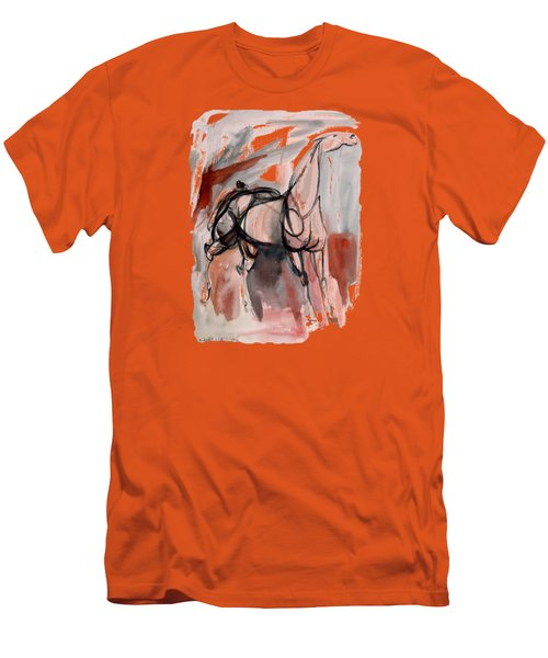 Men's T-Shirt (Slim Fit) featuring the mixed media Stand Alone Bold One by Mary Armstrong
