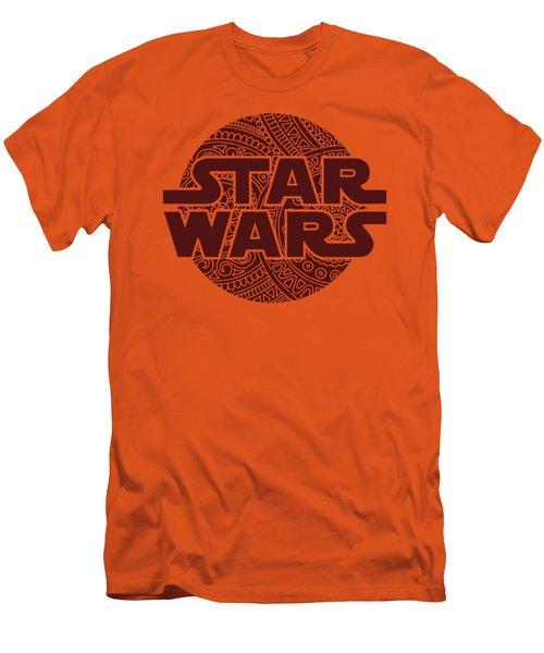 Star Wars Art - Logo - Red 02 Men's T-Shirt (Athletic Fit)