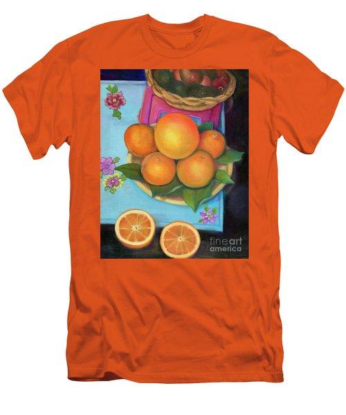 Still Life Oranges And Grapefruit Men's T-Shirt (Slim Fit) by Marlene Book