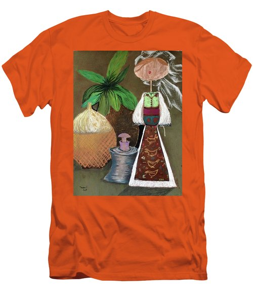 Still Life With Countru Girl Men's T-Shirt (Athletic Fit)