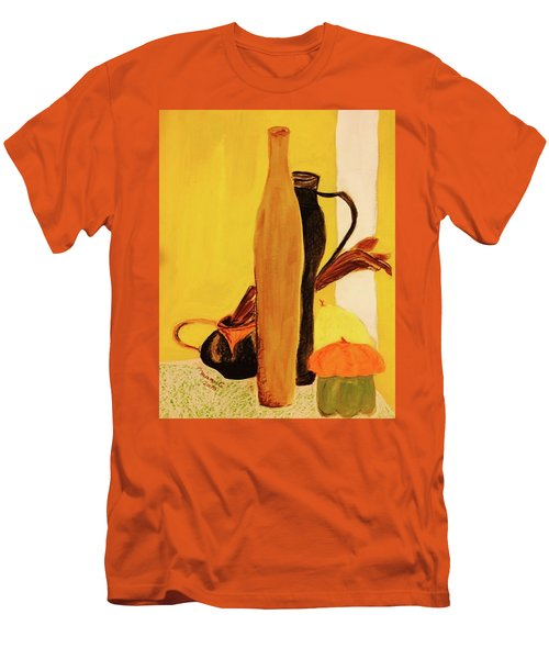 Still Life With Pumpkins  Men's T-Shirt (Slim Fit) by Manuela Constantin