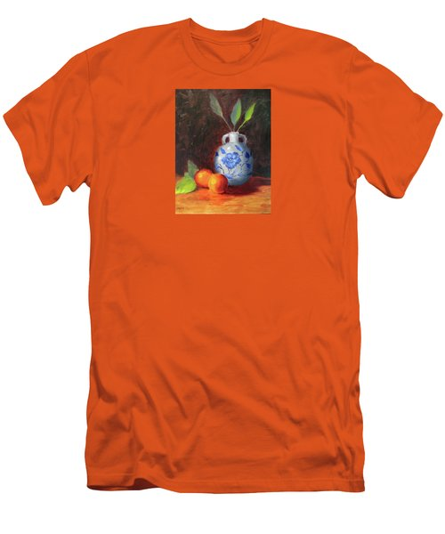 Still Life With Vase And Fruit Men's T-Shirt (Athletic Fit)