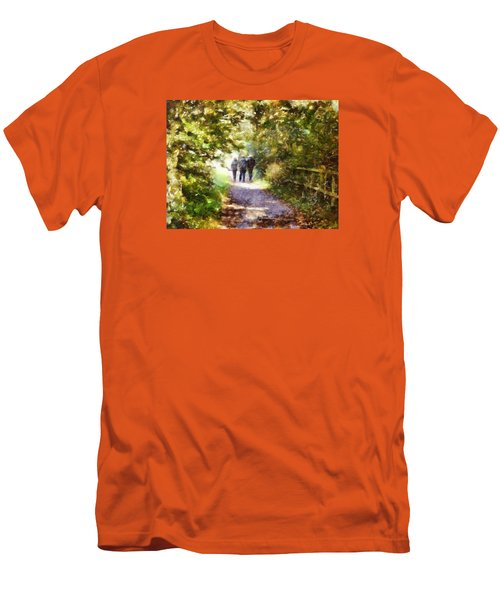 Strangers On A Footpath / In To The Light Men's T-Shirt (Athletic Fit)