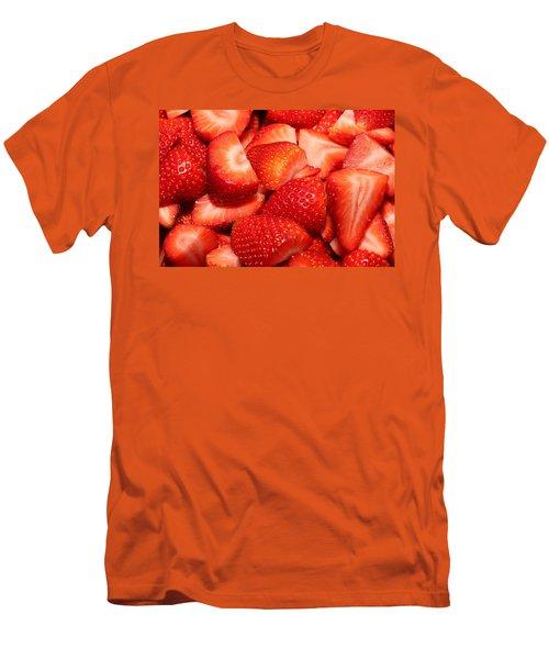 Strawberries 32 Men's T-Shirt (Slim Fit) by Michael Fryd