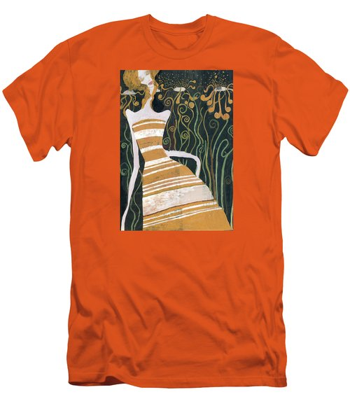 Men's T-Shirt (Slim Fit) featuring the painting Stripe Dress by Maya Manolova