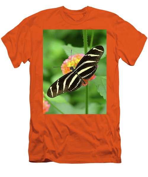 Striped Butterfly Men's T-Shirt (Athletic Fit)
