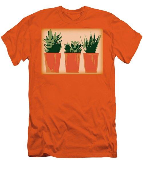 Succulents Men's T-Shirt (Slim Fit)