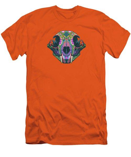 Men's T-Shirt (Slim Fit) featuring the digital art Sugar Lynx  by Nelson dedos Garcia
