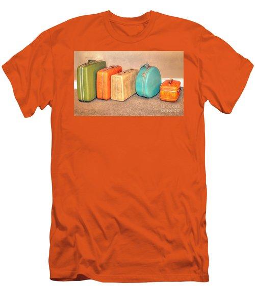 Suitcases Men's T-Shirt (Slim Fit) by Marion Johnson