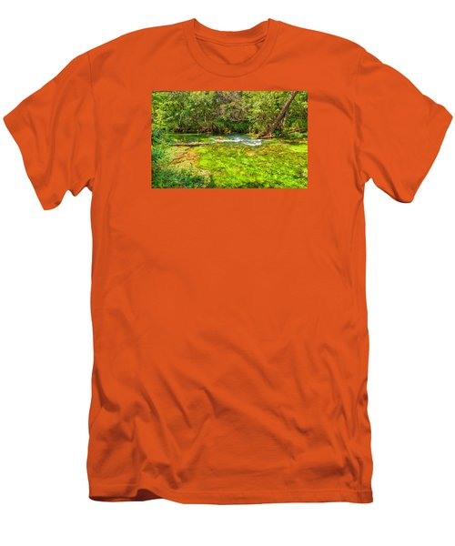 Men's T-Shirt (Slim Fit) featuring the photograph Summer At Alley Springs by John M Bailey