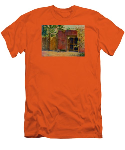 Summer Day In Santa Fe Men's T-Shirt (Slim Fit) by Ann Peck