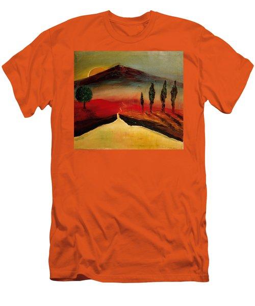 Sun Going Down Men's T-Shirt (Athletic Fit)