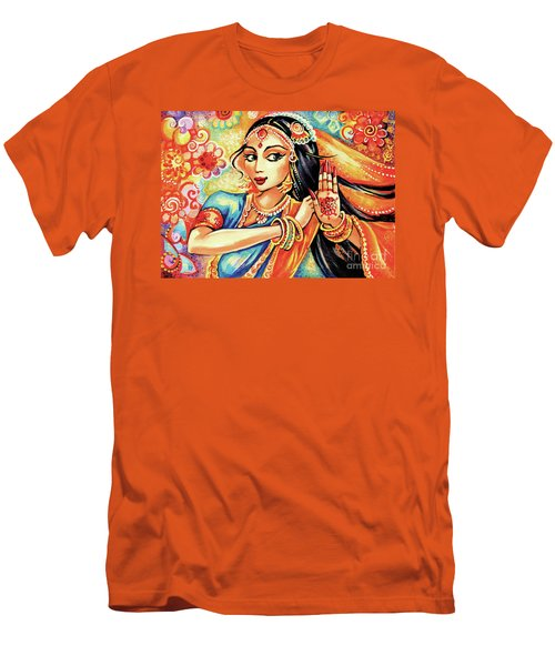 Men's T-Shirt (Slim Fit) featuring the painting Sun Ray Dance by Eva Campbell