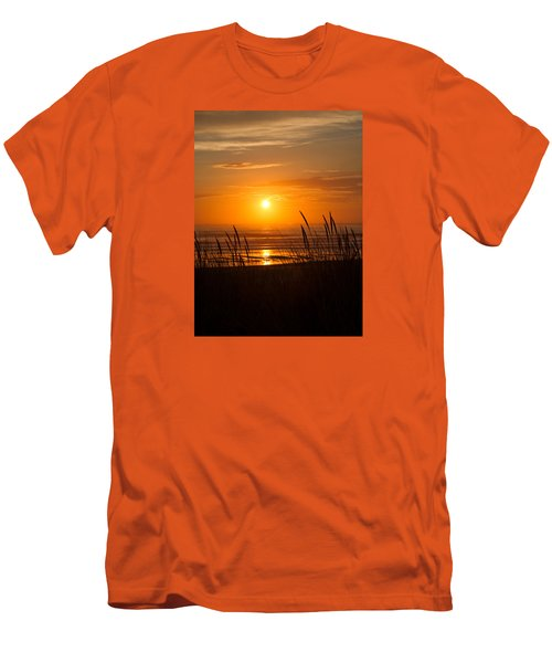 Men's T-Shirt (Slim Fit) featuring the photograph Sun Setting 2 by Adria Trail
