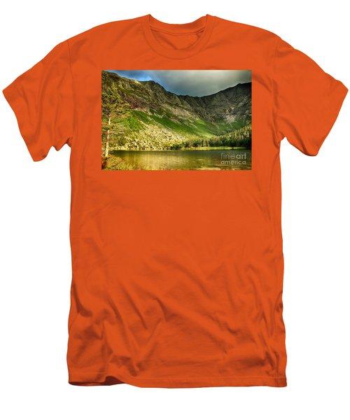 Sun Shining On Chimney Pond  Men's T-Shirt (Slim Fit) by Elizabeth Dow