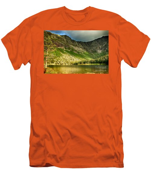 Sun Shining On Chimney Pond  Men's T-Shirt (Athletic Fit)